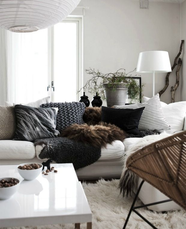 kussens-bank-woonkamer (2) | cosy, cocooning | Pinterest | Living ...
