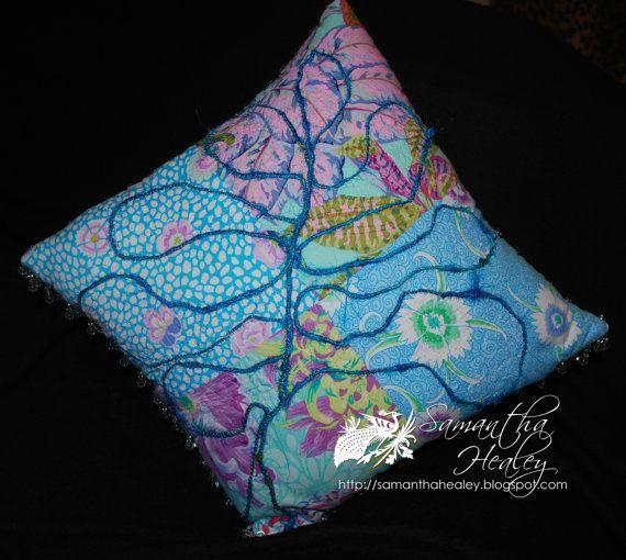 Handmade decorative cushion by LadybugMakes on Etsy