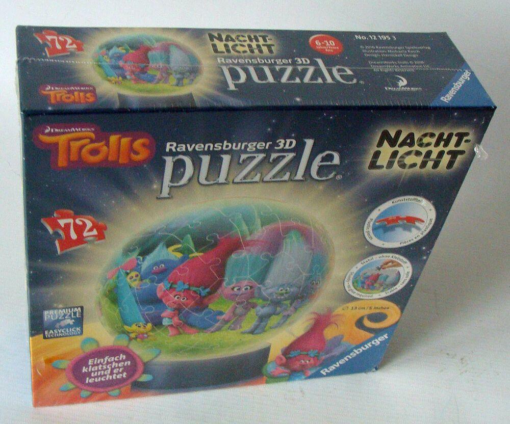 Ravensburger Puzzleball 121953 Trolls Nachtlichtt 72 Teile 6 10 Jahren Neu Puzzle Spielzeug Einfach
