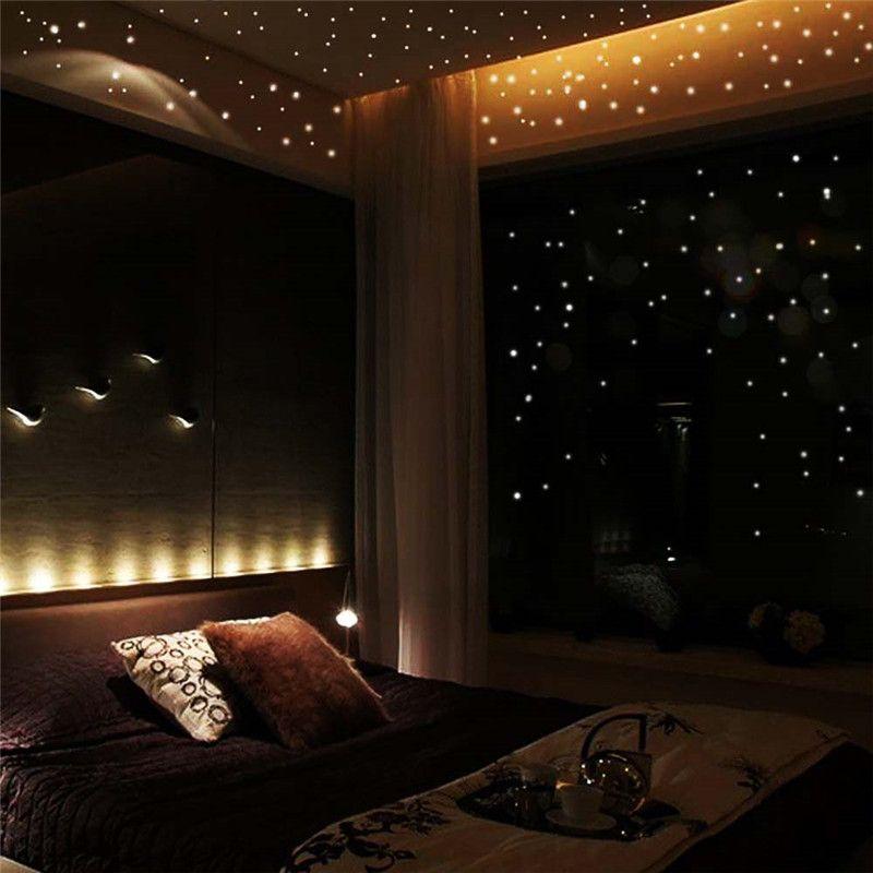 Vendas Hot 407 Pcs Dot Estrela Luminosa Brilham No Escuro Adesivos