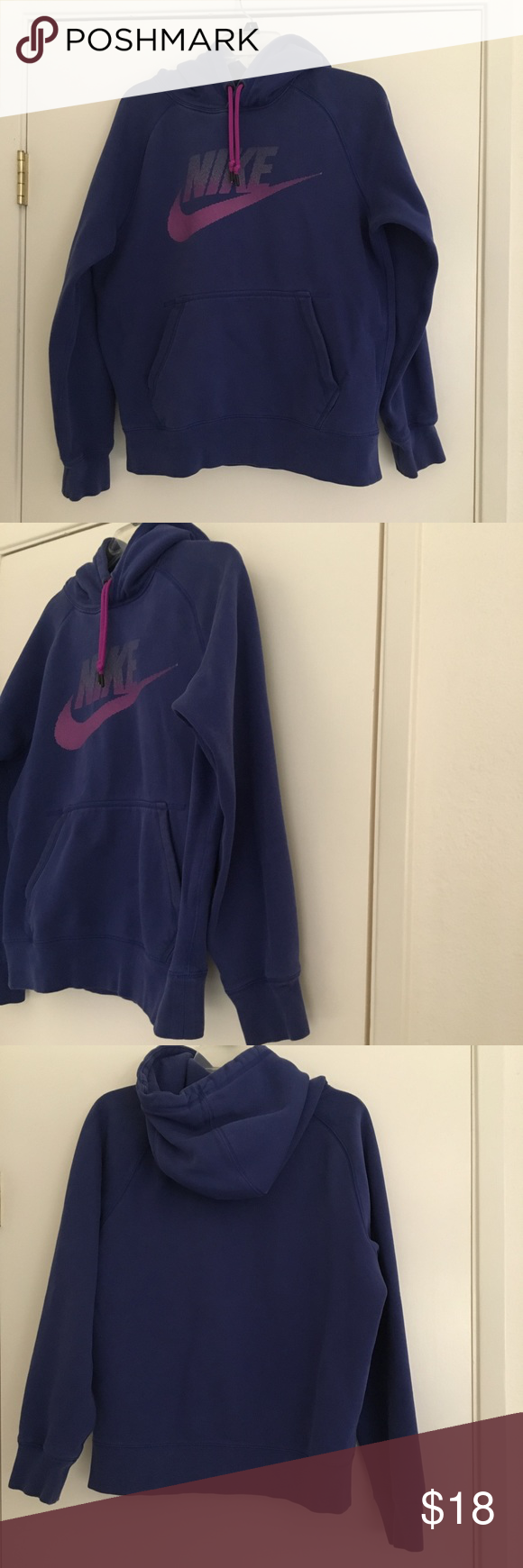 Nike logo pull over thick hoodie Size small Hoodies