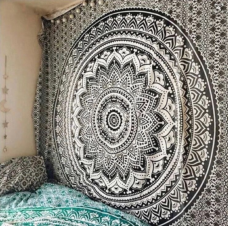 Indian Black Tapestry