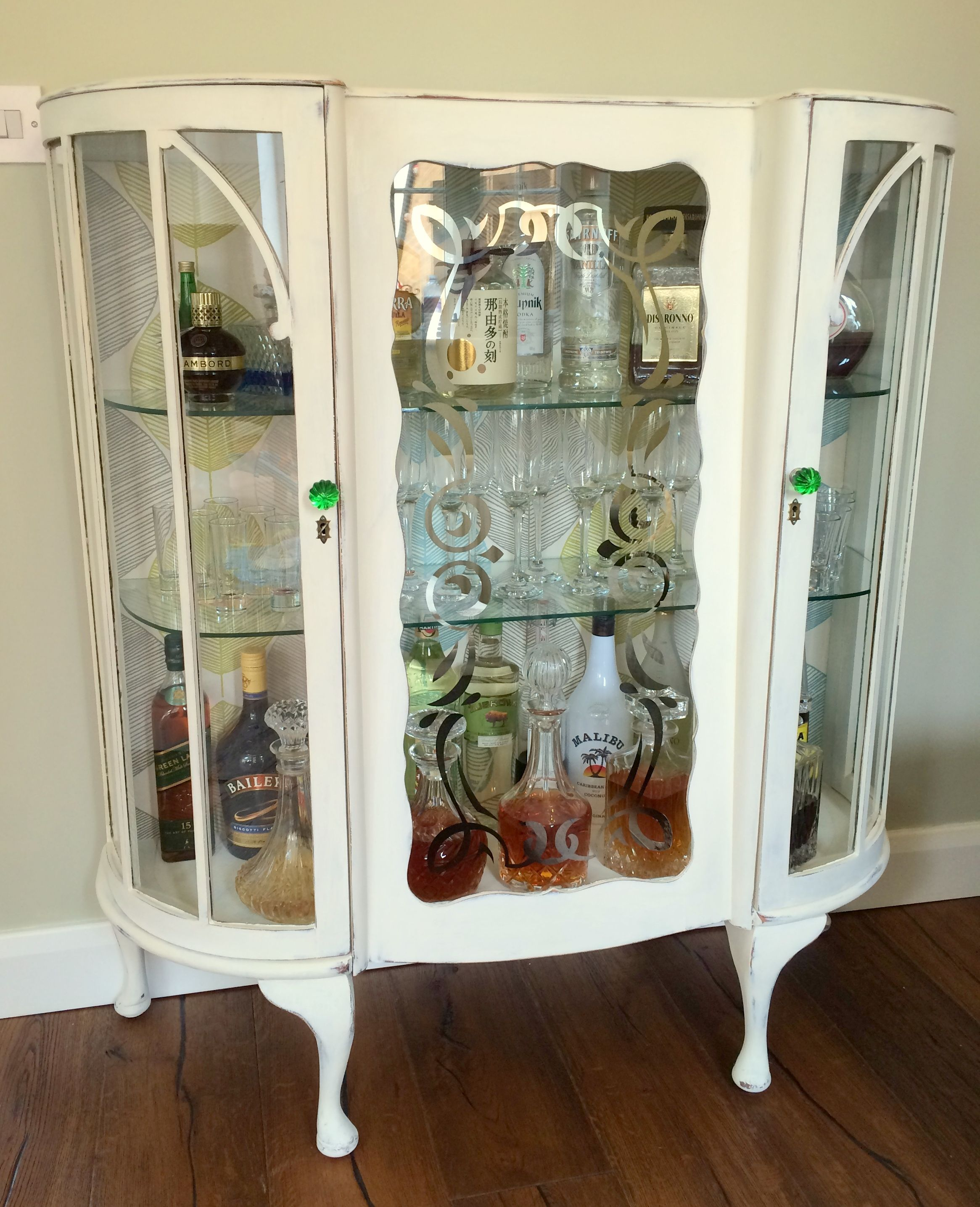 Diy shabby chic liquor cabinet diy house decorations pinterest