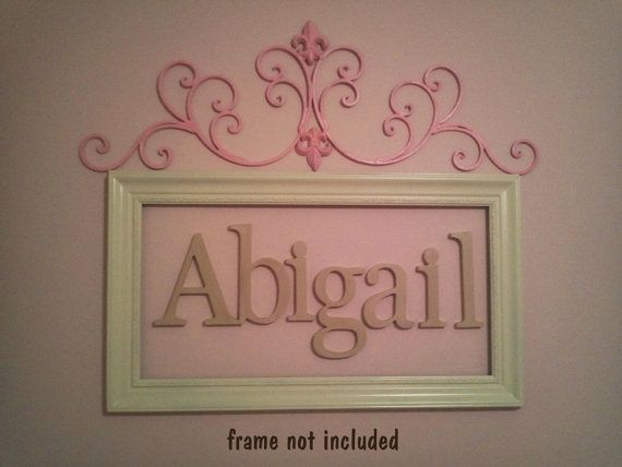 8 INCH unfinished wooden letters-wooden wall letters- nursery