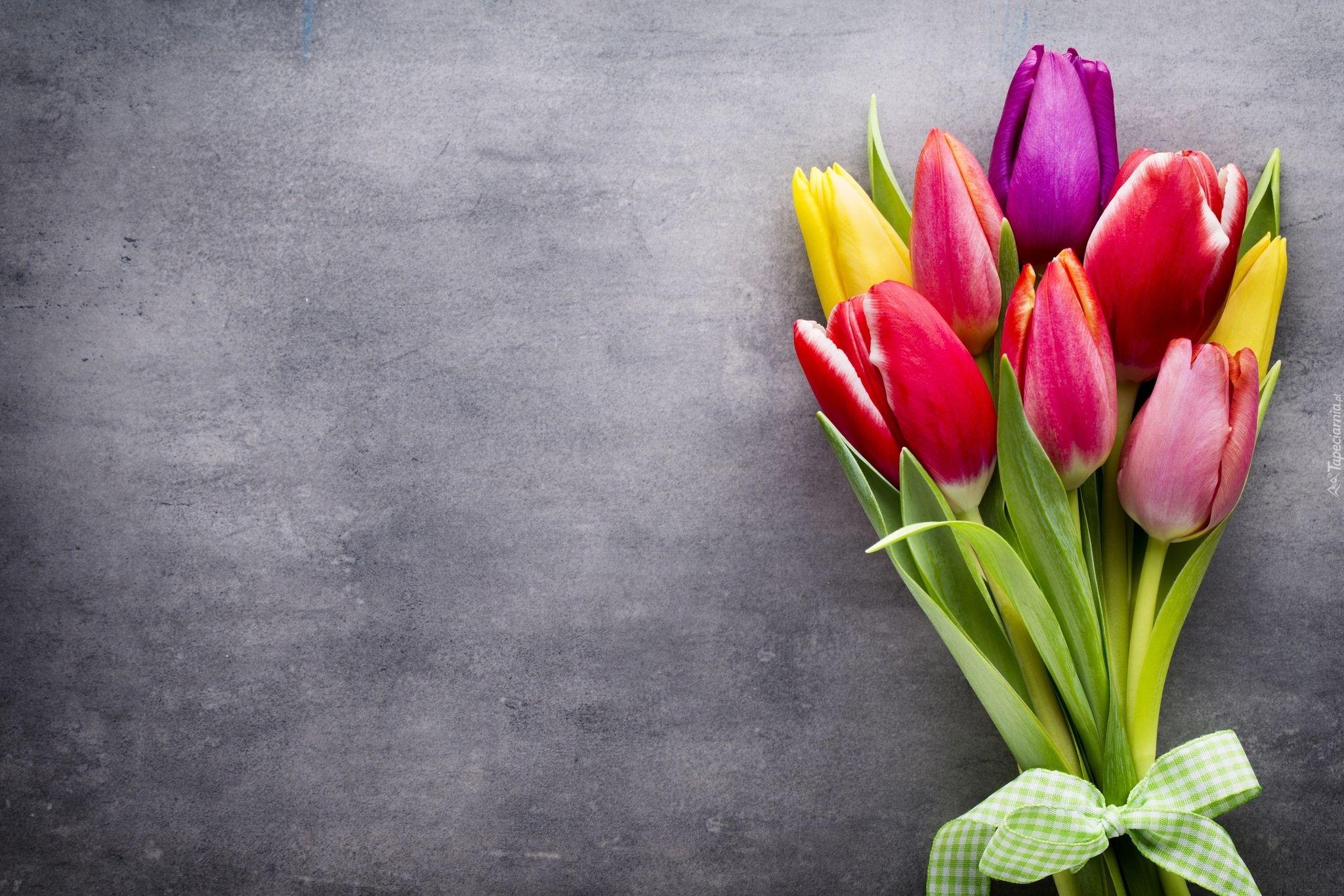 Kolorowy Bukiet Tulipany Beautiful Flowers Wallpapers Floral Poster Flower Backgrounds