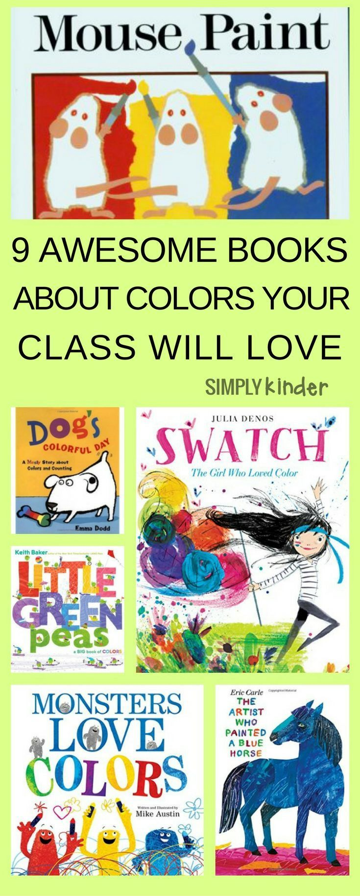 9 Awesome Books About Color Your Class Will Love | Pinterest ...