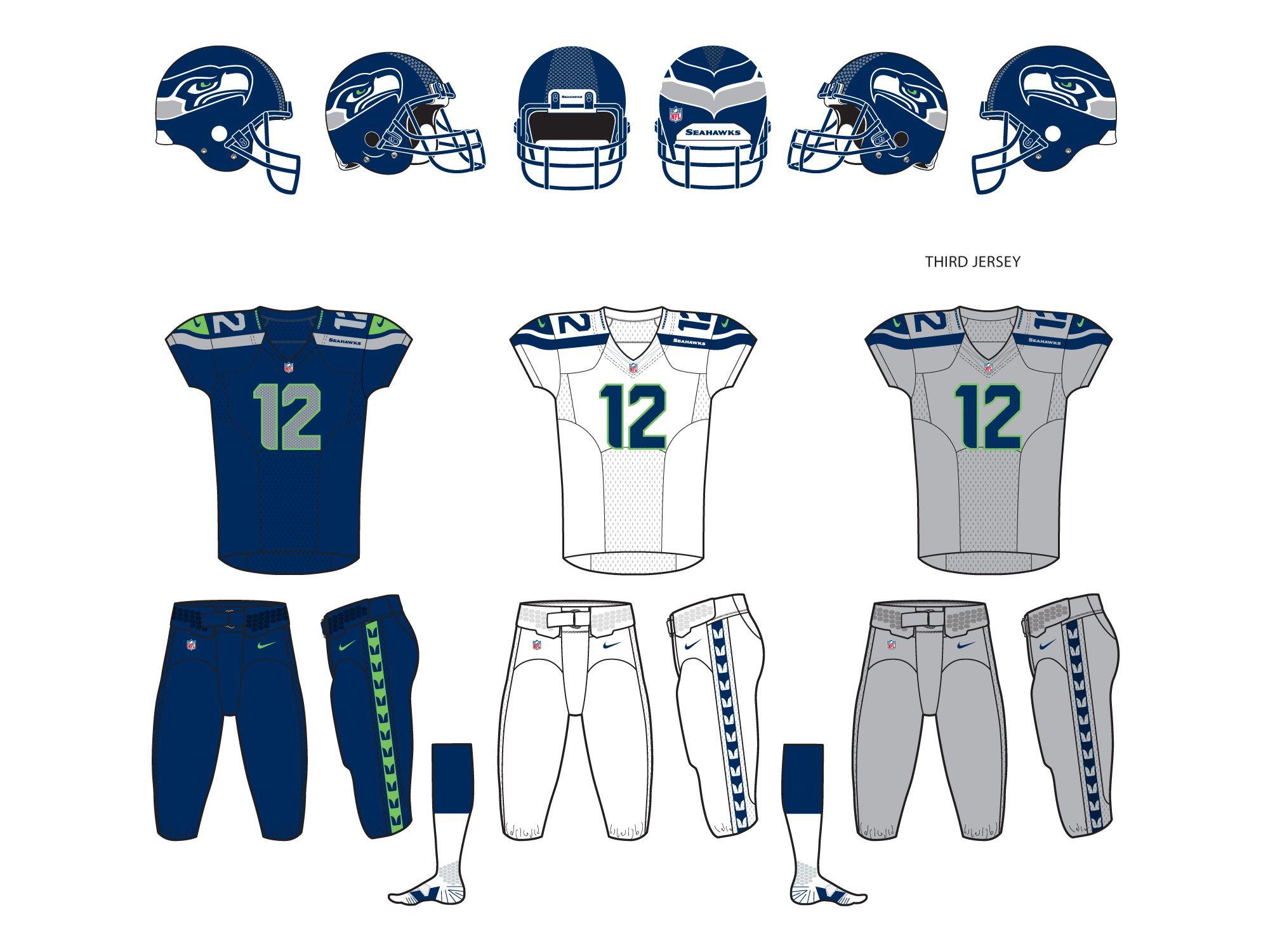 Seattle Seahawks 2012 Helmet and Uniforms. Sports