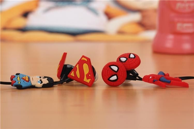 New Cartoon Superman 3.5mm in-ear Earphones Headsets Cute Earbuds for iPhone Samsung Mp3 for iPad mini Gift Earphone for Child – Shop Now! – WorldOfTablet.com