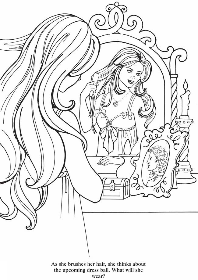 Welcome To Dover Publications Princess Coloring Pages Coloring