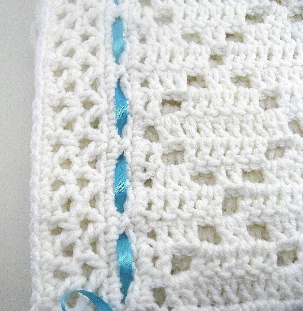 PDF Pattern Crocheted Baby Afghan DIAMOND LACE Baby Afghan ...
