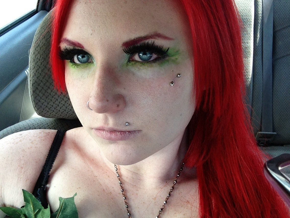 poison ivy inspired makeup green eye makeup Makeup for