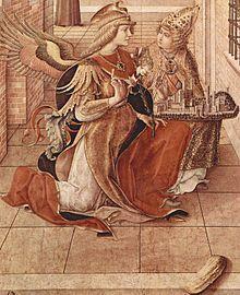 Carlo Crivelli - Annunciazione di Ascoli - Dettaglio