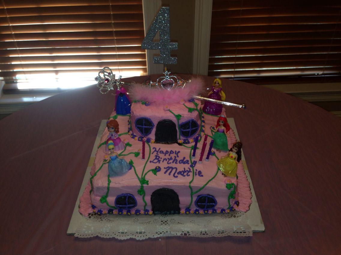 Mattie's 4 year old birthday cake Cake, Birthday cake
