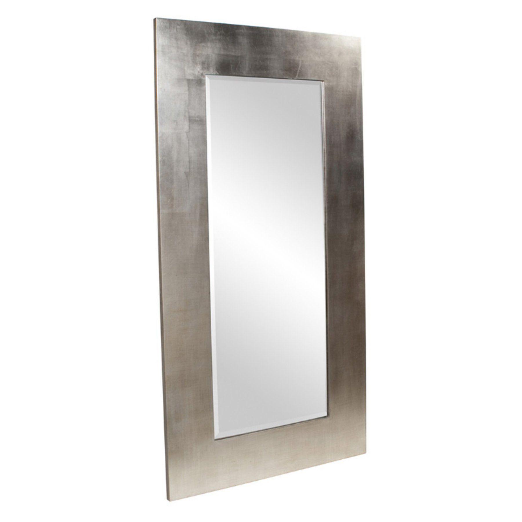 Elizabeth Austin Sonic Silver Leaning Floor Mirror 38w X 72h In