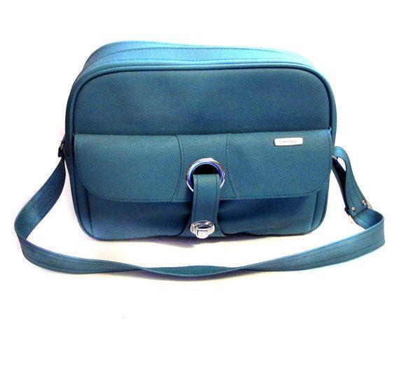 Vintage Sporty Blue Samsonite Bag