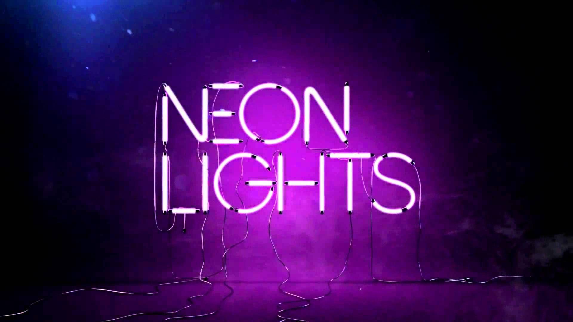 nice Neon Lights Guitar Desktop Background Neon
