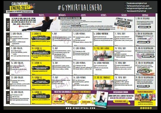 Calendario Septiembre Gymvirtual.Gymvirtual Mi Proposito Yopuedocontodo Gymvirtual