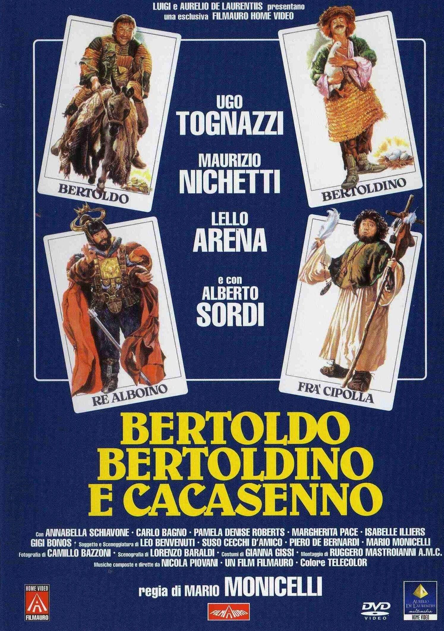 Bertoldo Bertoldino E Cacasenno Locandine Di Film Film Poster Con Illustrazioni