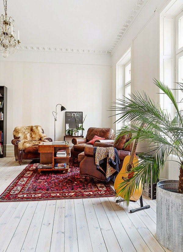 Present Obsession All The Rugs In The World Bohemian Living Rooms Bohemian Living Room My Scandinavian Home