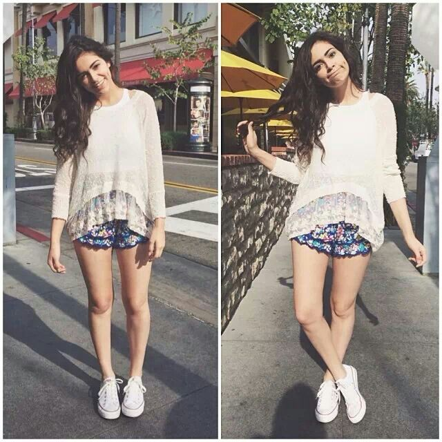 Bethany Mota. Youtuber and beautiful. Love her style. She obsessed with owls like me. Definitely relate to her!