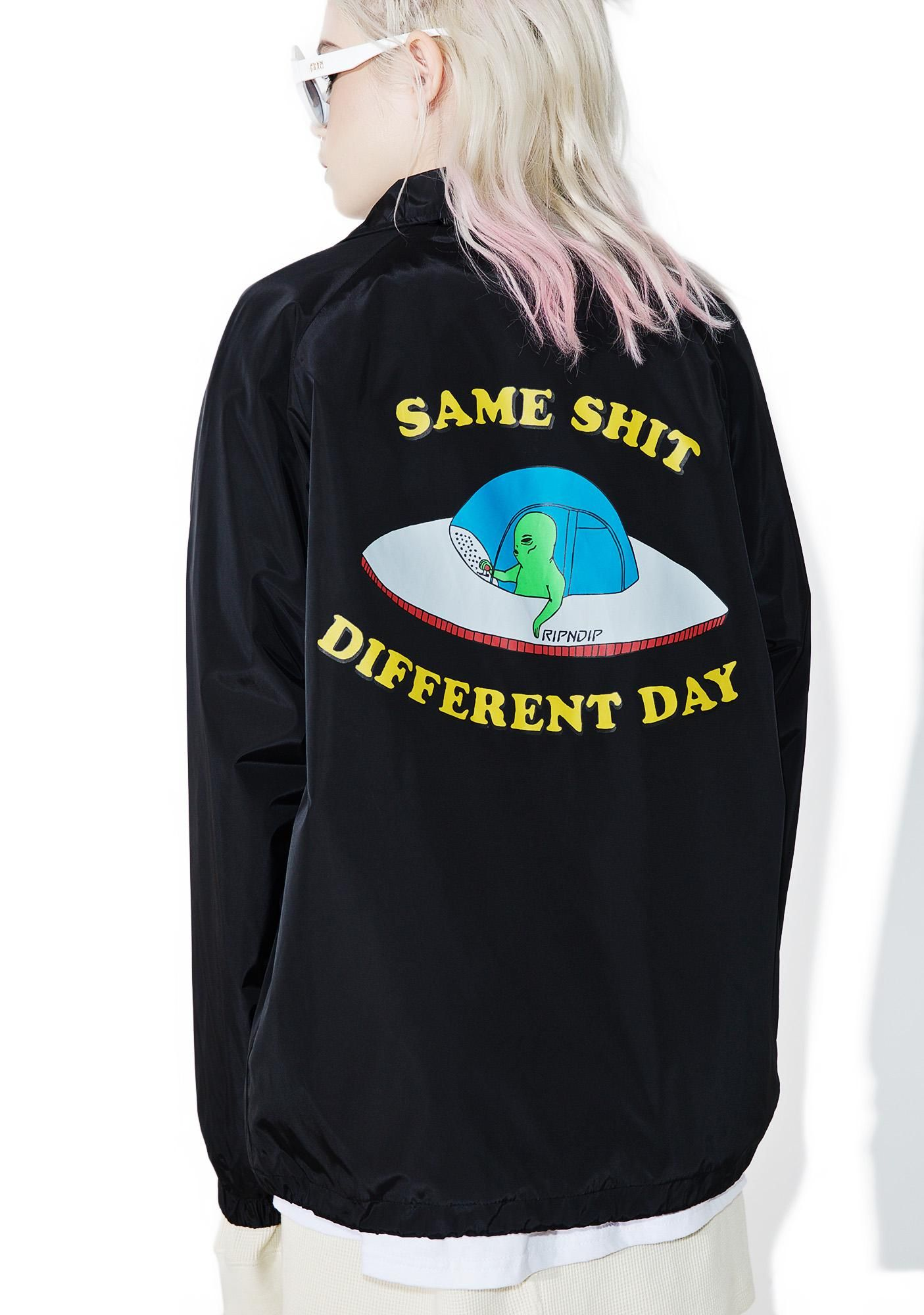 Ripndip Same Shit Coach Jacket Evrday Pinterest Closure