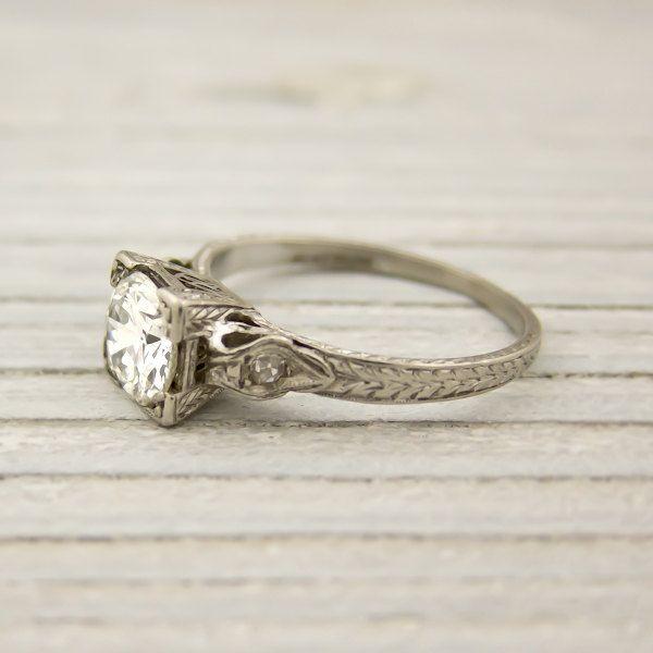 Vintage princess cut diamond ring.