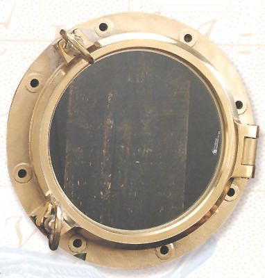 "Robin's Dockside Shop - Portholes High quality heavy duty ""real"" porthole window.  Seals waiter tight, can be used on boat, yacht or ship as an exterior thru-hull porthole. Sealed with heavy glass window. Visible glass is 15.5"" Price: $1220.95"