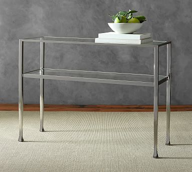 Tanner Console Table Polished Nickel Finish 599 42 Wide X 14 Deep 30 High