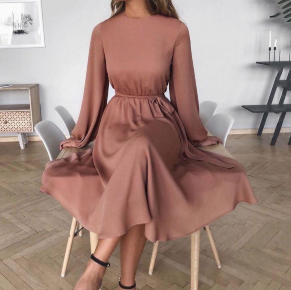 ✓ dress elegant midi classy fashioninsta pretty girly