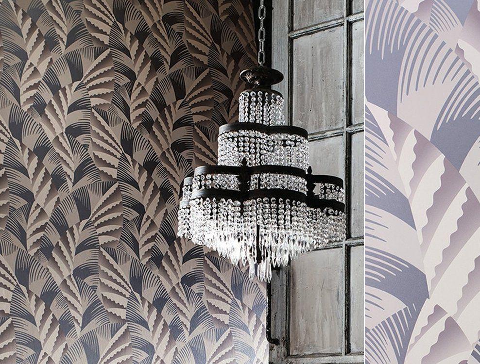 Papier peint Art Déco Chrysler bruyère et métallique d\'Osborne and ...