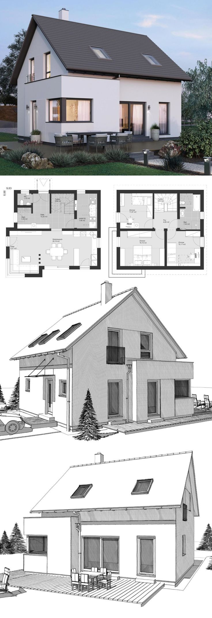 fba02a37723e5ac64d4fe27c618a3309 - 40+ Small House Design In Europe Images
