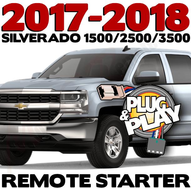Remote Starter For 2017 Thru 2018 Chevy Silverado Silverado Starter Remote