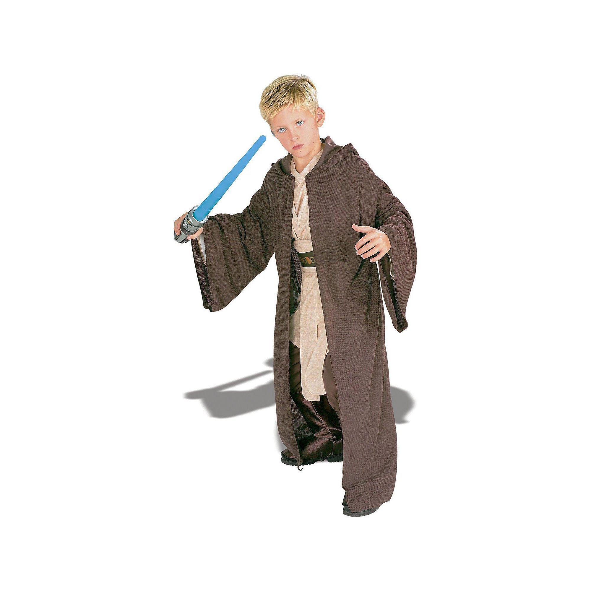 Star Wars Jedi Robe Costume - Kids Boyu0027s Size Medium ...  sc 1 st  Pinterest & Star Wars Jedi Robe Costume - Kids Boyu0027s Size: Medium Brown ...