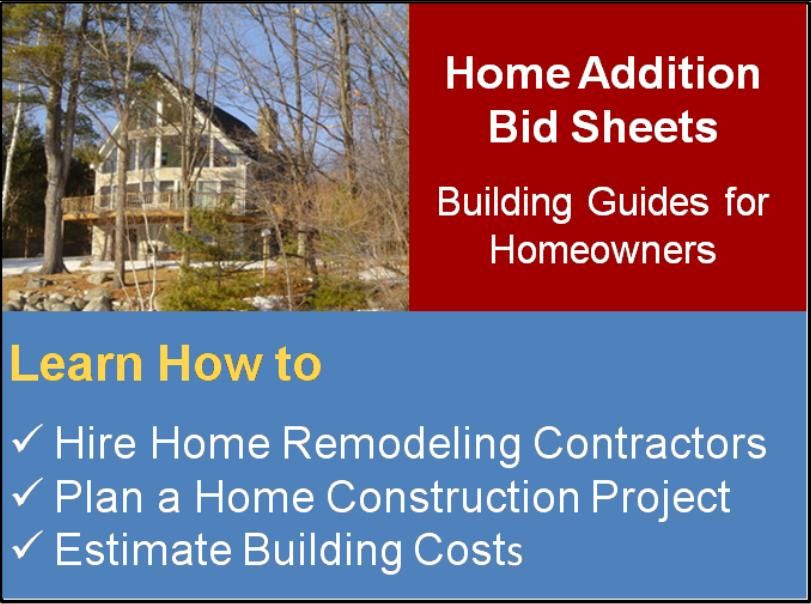 How To Estimate Your Home Building Costs Http Www