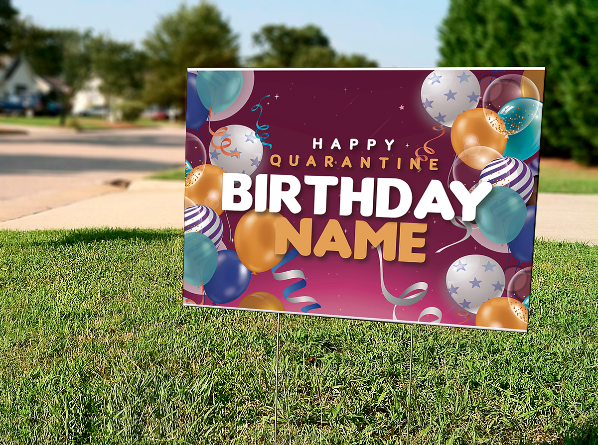 Pin on Happy Birthday Personalized Lawn Sign
