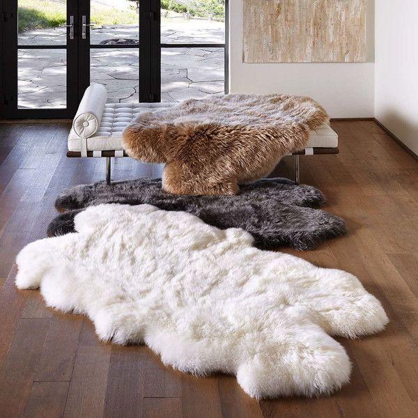 Ugg Home Sheepskin Area Rug Quarto Grey 350 Liked On Polyvore Featuring Home Rugs Grey Area Rug Sh Sheepskin Throw Sheepskin Rug Classy Rugs