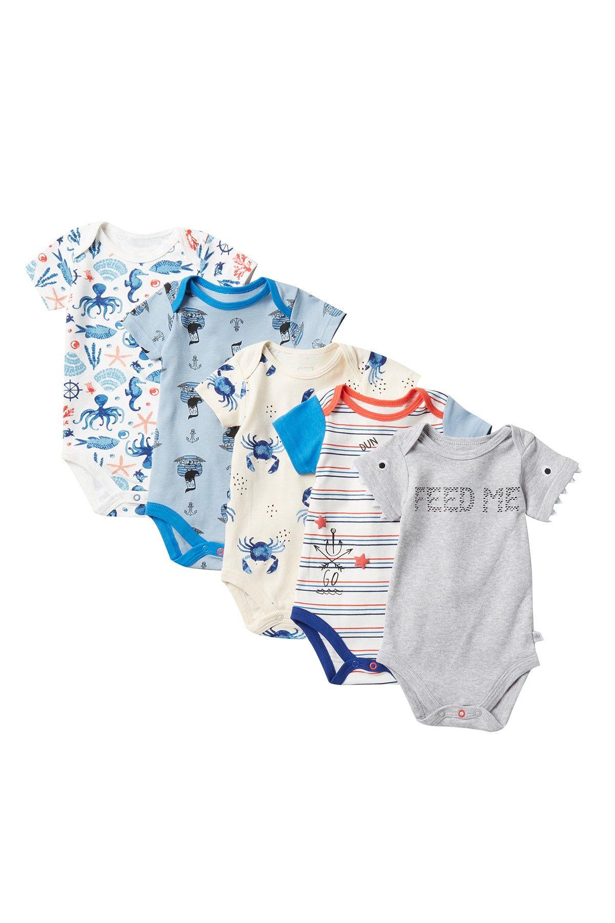 Rosie Pope | Assorted Bodysuits - Pack of 5 (Baby Boys #nordstromrack