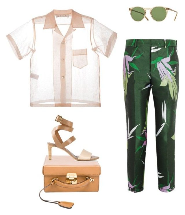 """""""89"""" by remedijos ❤ liked on Polyvore featuring Marni, Oliver Peoples, Mark Cross and Chloé"""