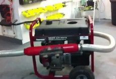 how to make a 2 stroke generator quieter