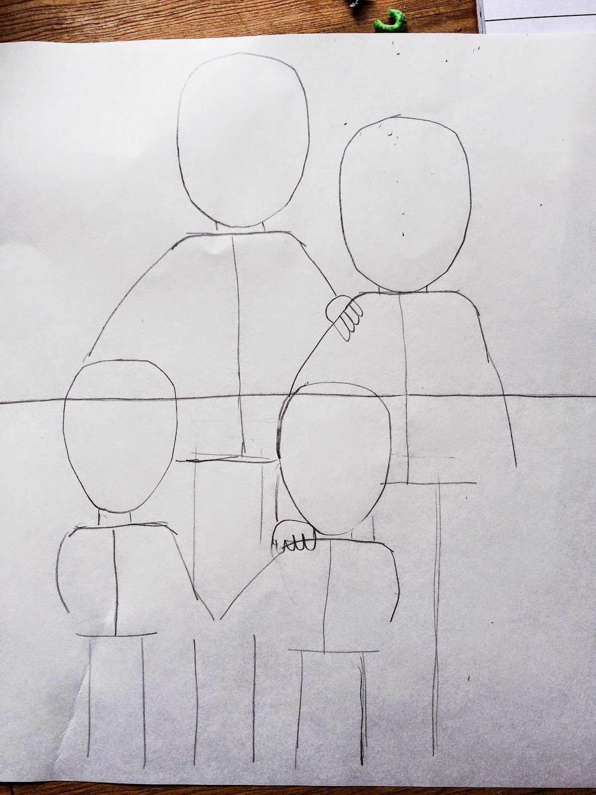 2nd Grade Family Portraits Step By Step Lesson Family Drawing
