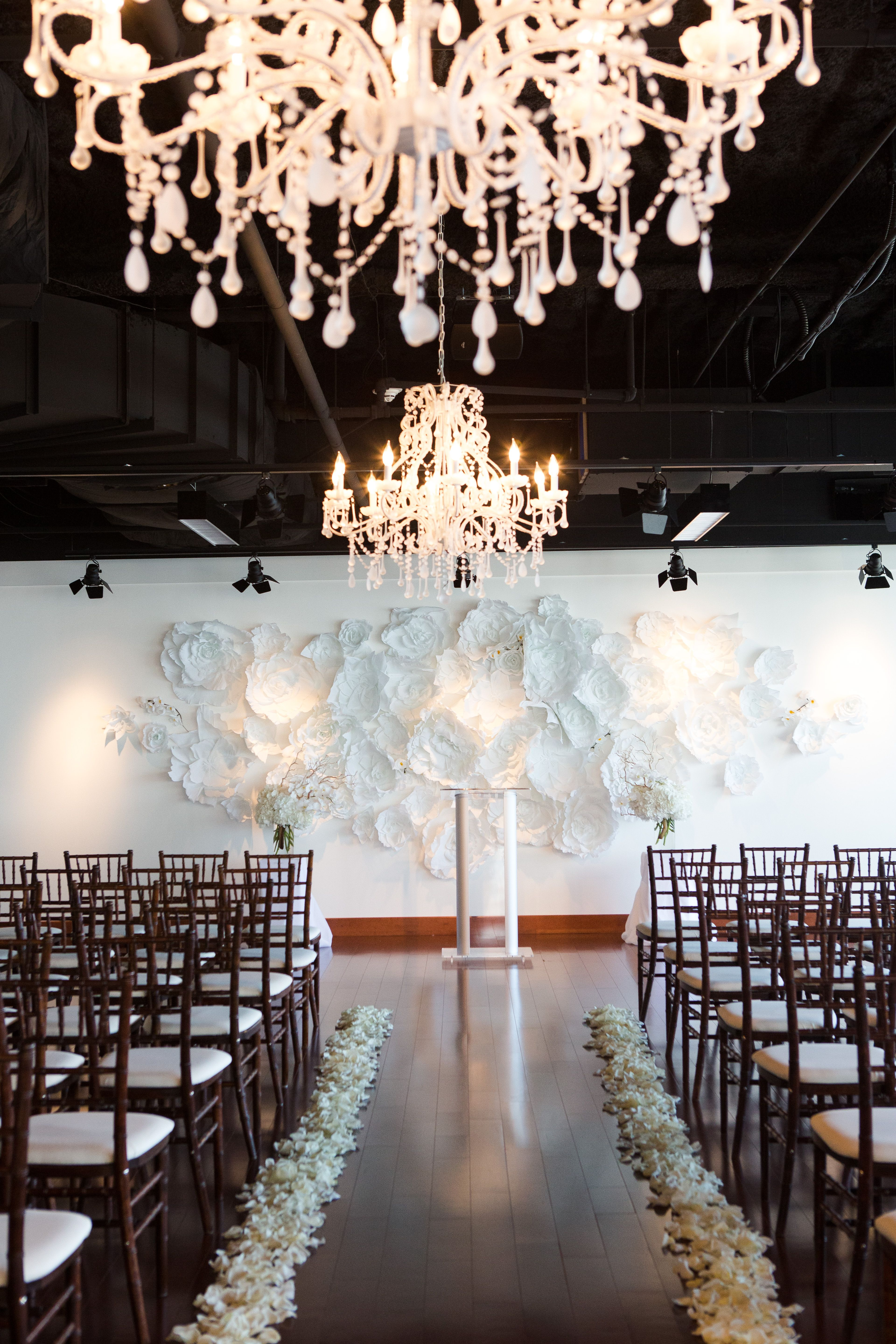 Mmj Events Ivory Room Columbus Ohio Wedding Ceremony White Tall Centerpieces Peach Green Blush Pink Glamorous Flower Wall: Unique Wedding Venues Columbus Ohio At Websimilar.org