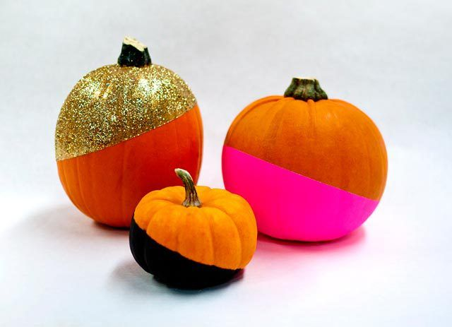 Paint Dipped Pumpkins