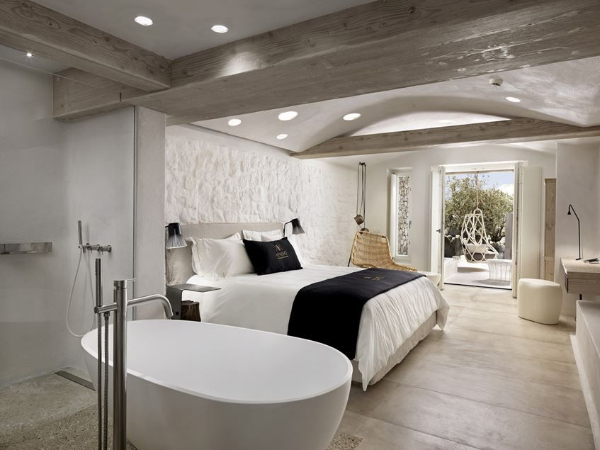 contemporary mediterranean hotel situated on the greek island of mikonos designed by cmh