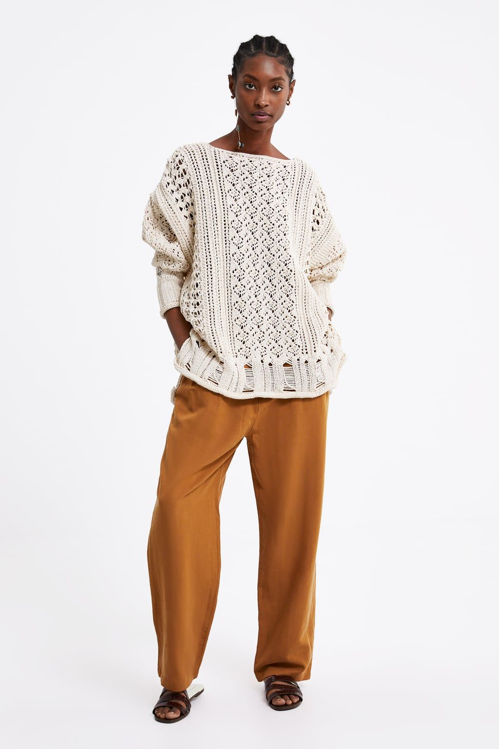 fe5ad2bffa2 OVERSIZED TEXTURED SWEATER - View all-KNITWEAR-WOMAN
