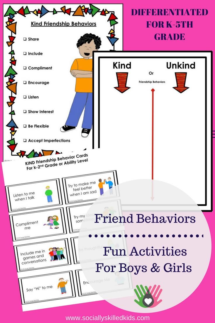 Good Friend Behaviors || Social Skills Activities