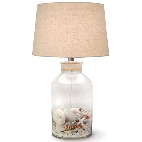 Fillable Glass Table Lamps Beach Shell Jar Lamps More Lamp Glass Lamp Shell Lamp