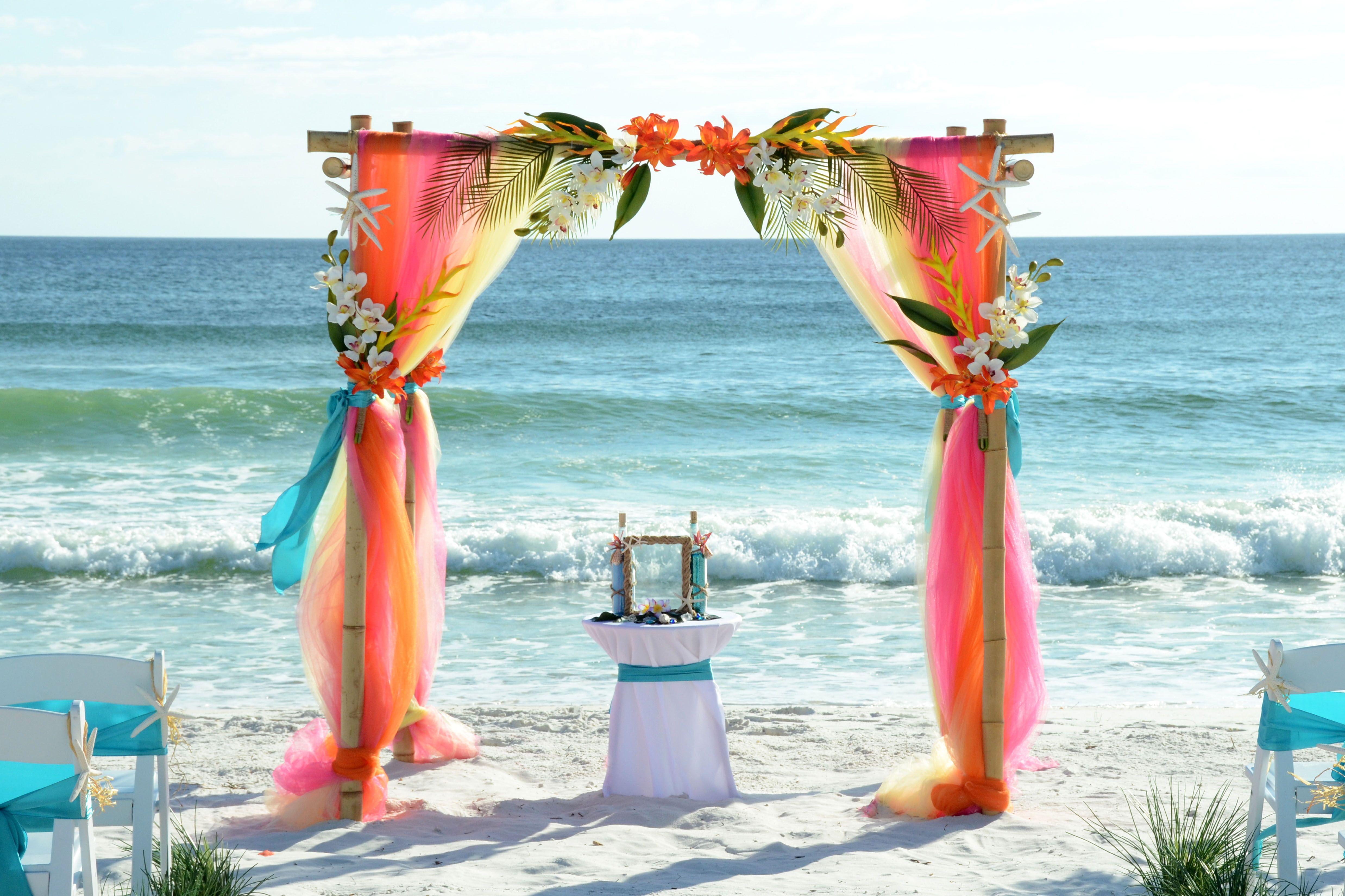 Tropical Wedding Arbor Panama City Beach Florida Destination