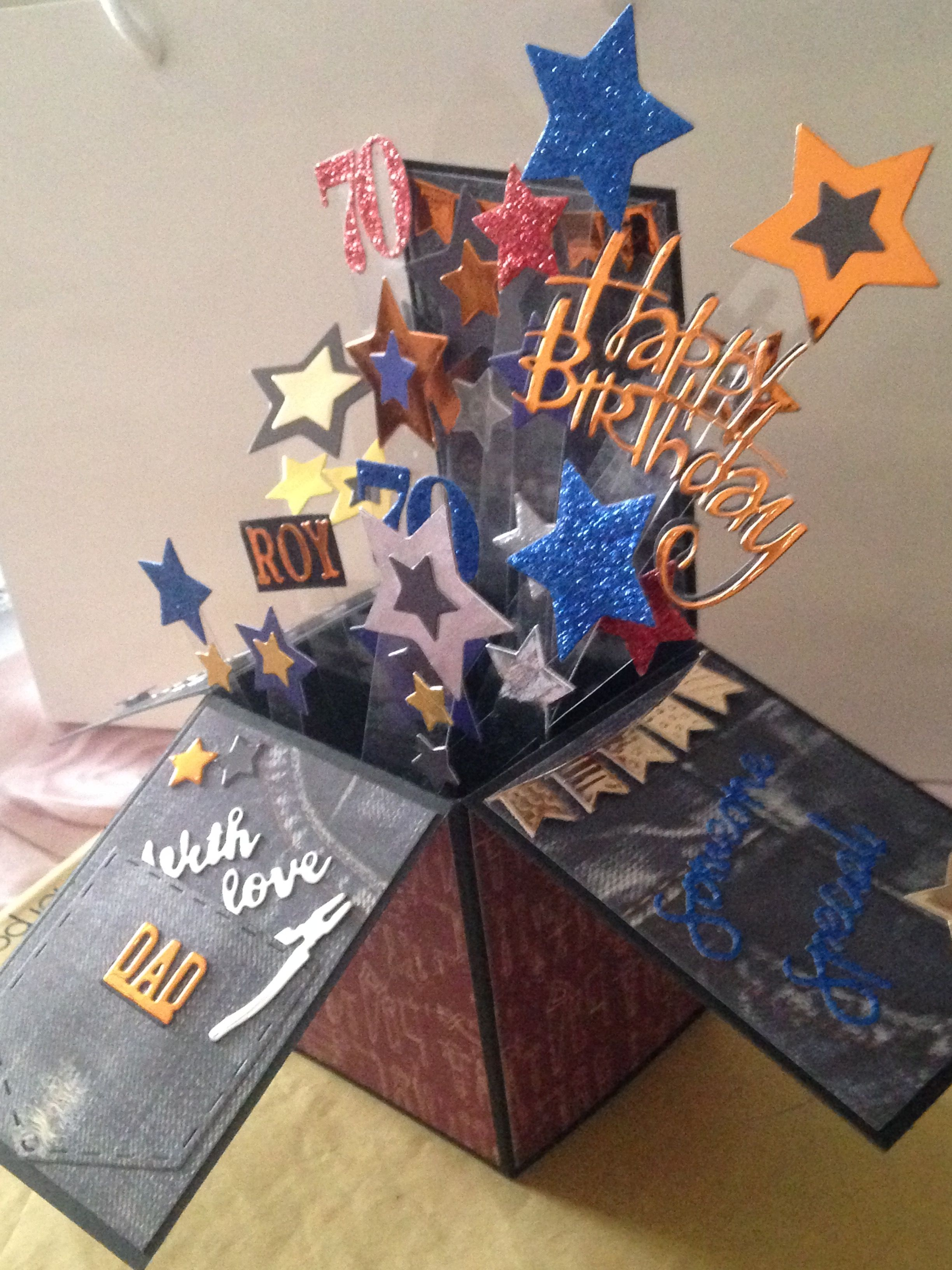 Pop Up Card For Dad Pop Up Box Cards Pop Up Cards Birthday Cards For Men