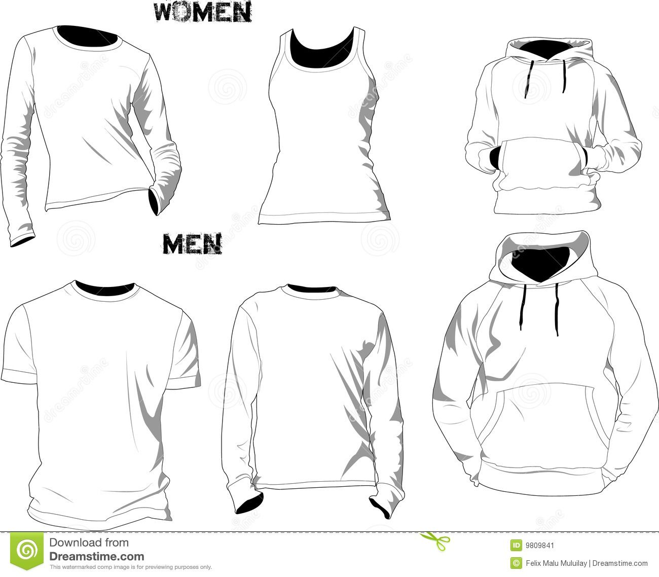 T-shirt Templates Stock Image - Image: 9809841 | Fashion Sketches ...