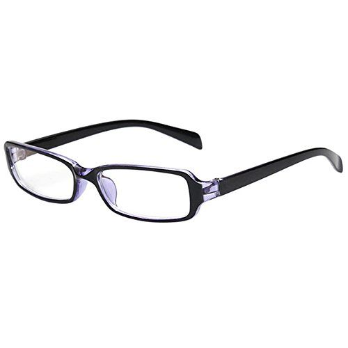 a943578190 FancyG Vintage Inspired Classic Retro Style Rectangle Shape UV Protection  Blue Tint Glasses Frame Clear Lens Eyewear Black Purple     Check out the  image by ...